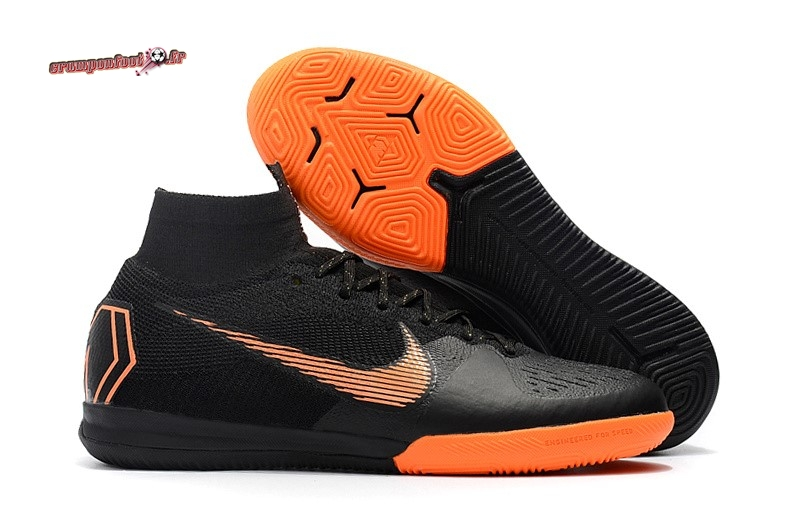 Buy Chaussure Nike SuperflyX 6 Elite IC Noir Orange En Solde