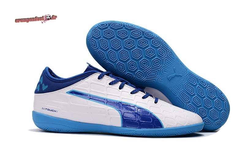 Buy Chaussure Puma evoTOUCH 3 IC Blanc Marine Pas Cher