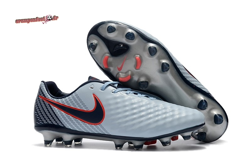 Chaussure Foot Promo - Chaussure Nike Magista Opus II FG Rouge Gris Chaussure de Foot Salle