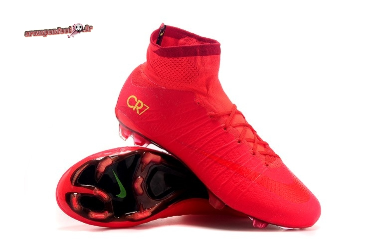 Chaussure Foot Promo - Chaussure Nike Mercurial Vapor X FG Rouge - Crampon de Foot