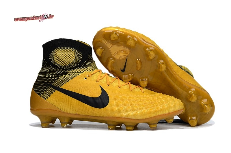 Destockage - Chaussure Nike Magista obra II FG Or - Chaussures de Foot