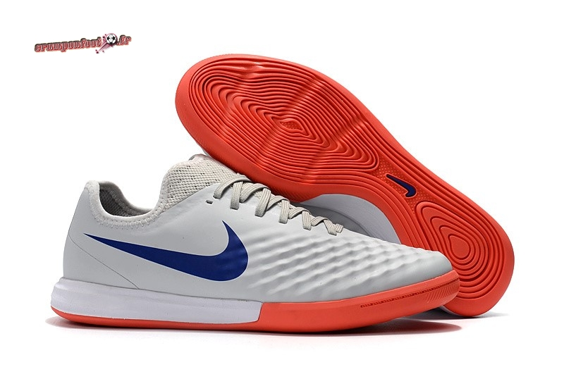 Destockage - Chaussure Nike MagistaX Finale II IC Orange Bleu Blanc - Crampon de Foot