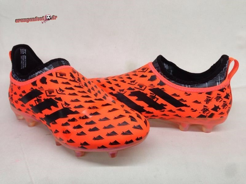 Hot Chaussure Adidas Glitch Skin 17 FG Orange - Crampon de Foot