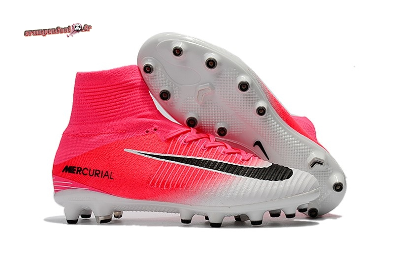 Hot Chaussure Nike Mercurial Superfly V AG Blanc Rose - Chaussures de Foot