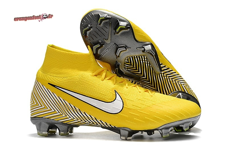 Hot Chaussure Nike Mercurial Superfly VI 360 Elite FG Jaune Lineaire - Crampon de Foot