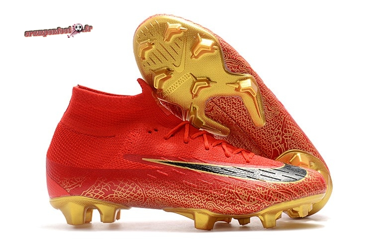 Hot Chaussure Nike Mercurial Superfly VI 360 Elite FG Or Rouge Pas Cher