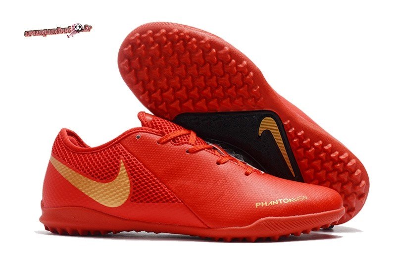 Buy Chaussure Nike Phantom VSN Academy TF Rouge En Solde
