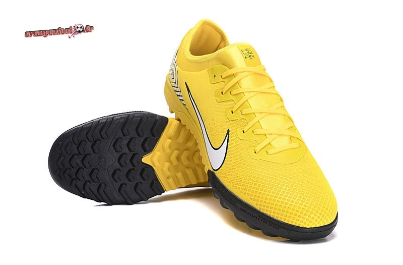 Chaussure Foot Promo - Chaussure Nike Mercurial VaporX VII Pro TF Jaune - Chaussures de Foot