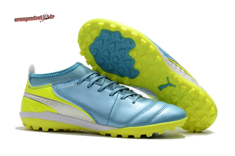 Hot Chaussure Puma One Leather 18.1 Syn TF Claro - Crampon de Foot