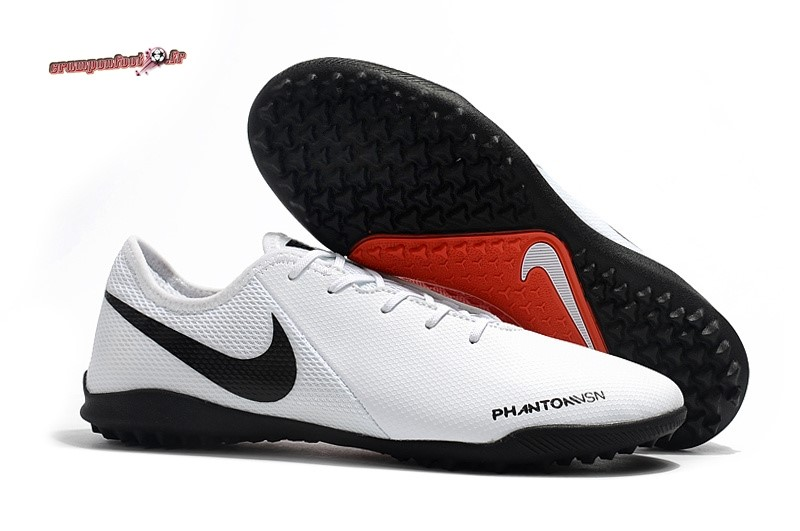 Nouvelle Chaussure Nike Phantom VSN TF Blanc - Chaussures de Foot