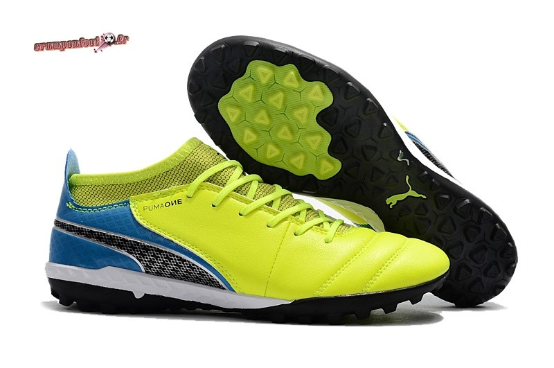 Nouvelle Chaussure Puma One Leather 18.1 Syn TF Jaune En Ligne