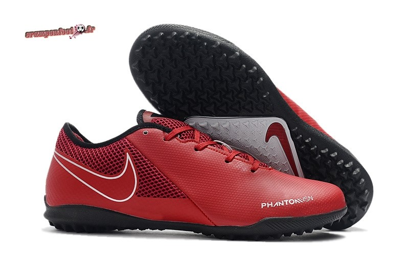 Soldes Chaussure Nike Phantom VSN Academy TF Bordeaux Pas Cher