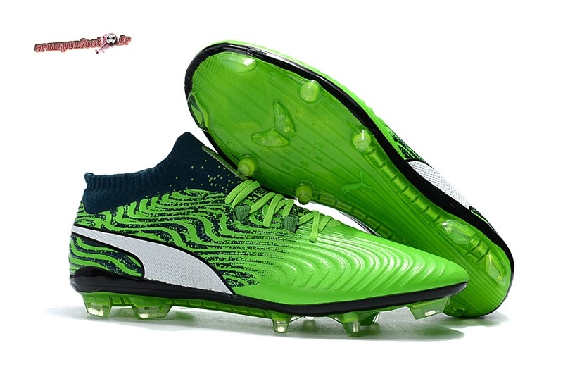 Trouver - Chaussure Puma One 18.1 Syn FG Vert En Solde