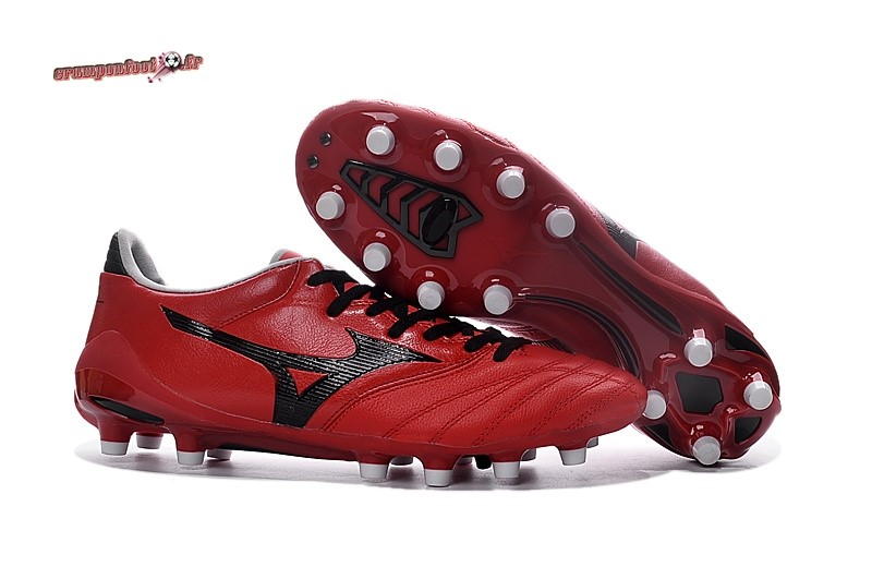 Vente Chaussure Mizuno Morelia Neo II FG Rouge - Chaussures de Foot
