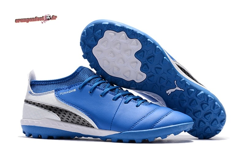 Vente Chaussure Puma One Leather 18.1 Syn TF Bleu - Meilleur Chaussures de Foot