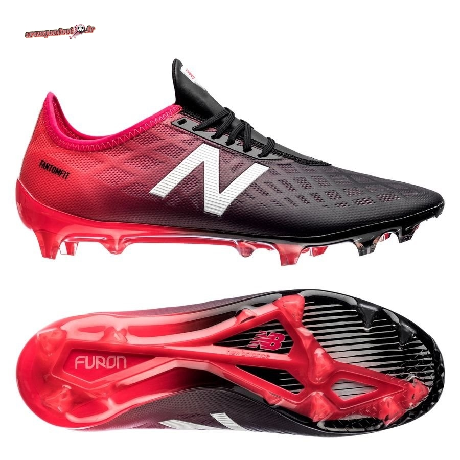 Chaussure Foot Promo - Chaussure New Balance Furon 4.0 Pro FG Rouge Chaussure de Foot Salle