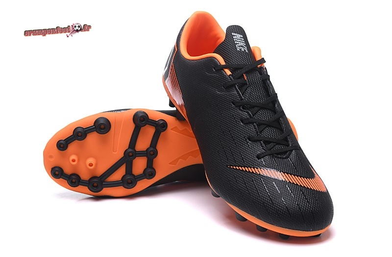 huge selection of aba2f 61a48 ... Chaussure Foot Promo - Chaussure Nike Mercurial Vapor XII Academy CR7  Femme AG Orange Noir Pas ...