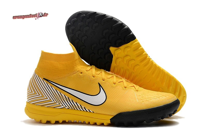Destockage - Chaussure Nike Mercurial Superfly VI 360 Elite Neymar TF Jaune - Crampon de Foot