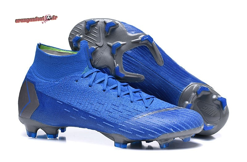 Site Crampons Foot - Chaussure Nike Mercurial Superfly VI 360 Elite FG Bleu - Chaussures de Foot