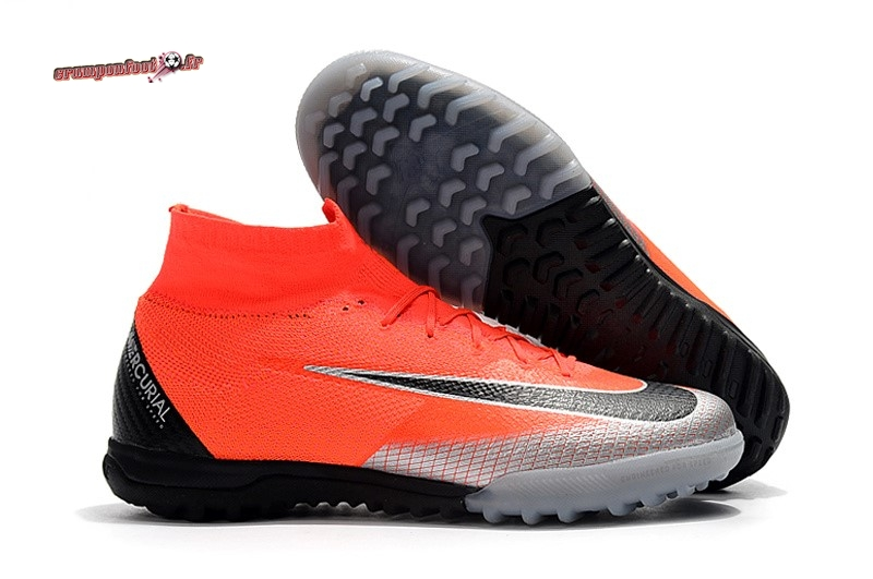 Site Crampons Foot - Chaussure Nike Mercurial Superfly VI Elite CR7 TF Orange - Chaussures de Foot