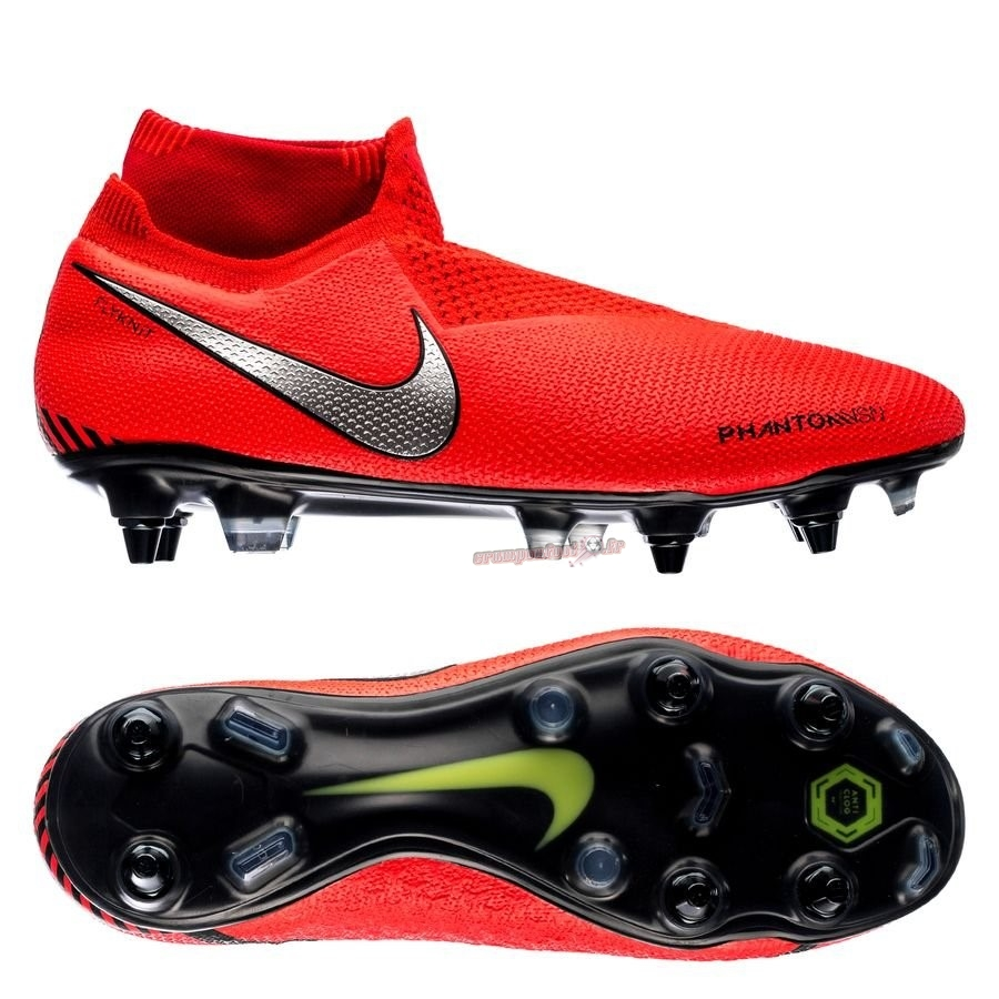 Acheter Chaussure Nike Phantom Vision Elite DF SG PRO Anti Clog Game Over Rouge - Crampon de Foot