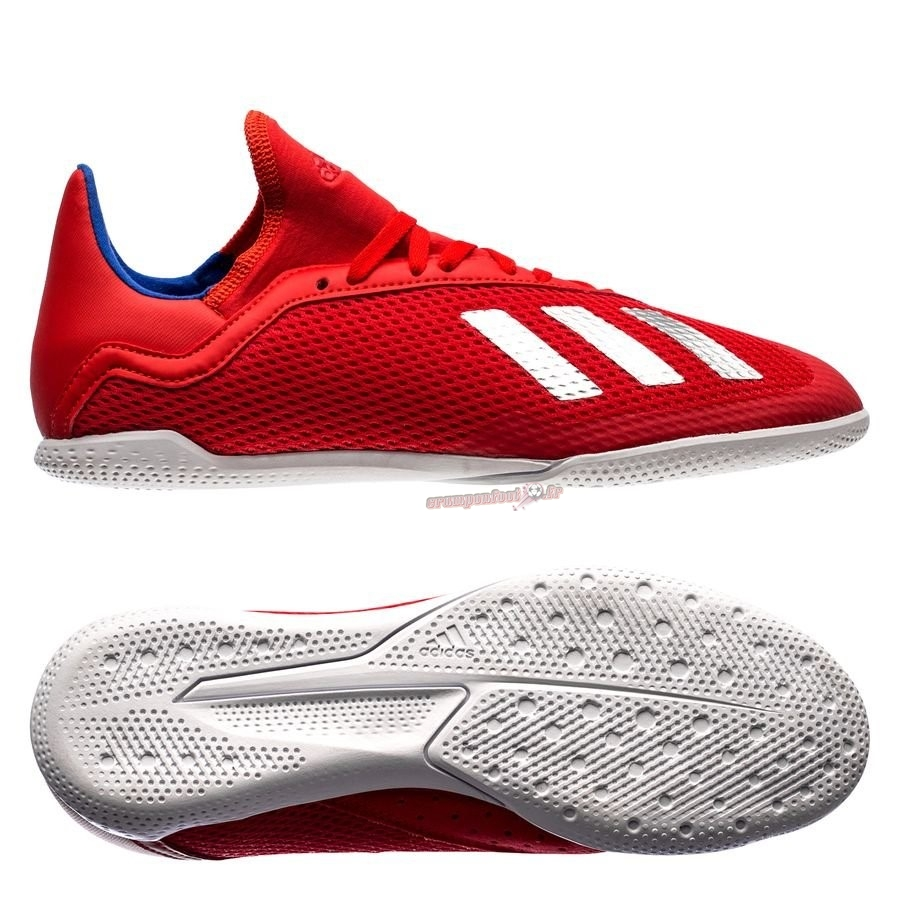 Chaussure Foot Promo - Chaussure Adidas X Tango 18.3 Enfant IN Exhibit Rouge - Crampon de Foot