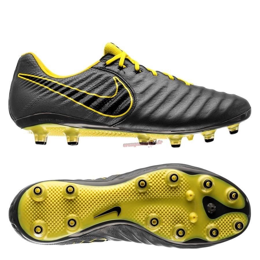 Remise Chaussure Nike Tiempo Legend VII Elite AG PRO Game Over Gris Jaune Chaussure de Foot Salle