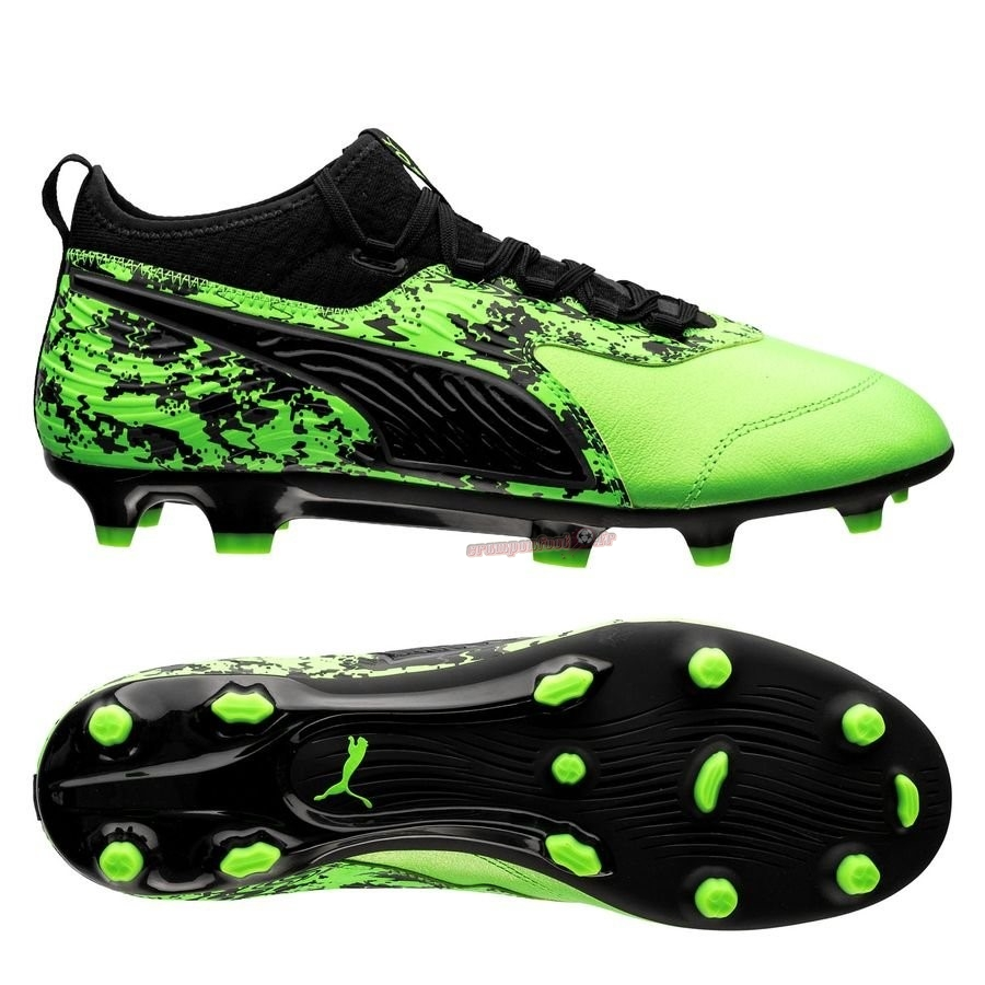 Buy Chaussure Puma One 19.3 FG/AG Hacked Vert Pas Cher