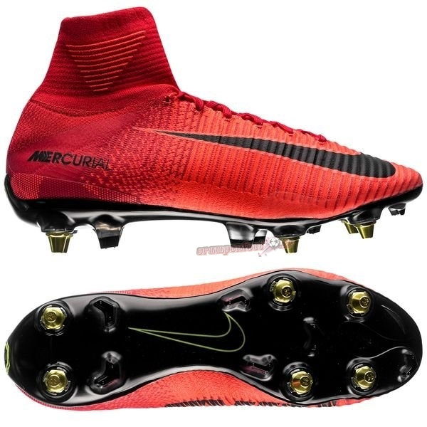 Chaussures de Foot - Chaussure Nike Mercurial Superfly SG Pro Anti Clog Rouge - Crampon de Foot