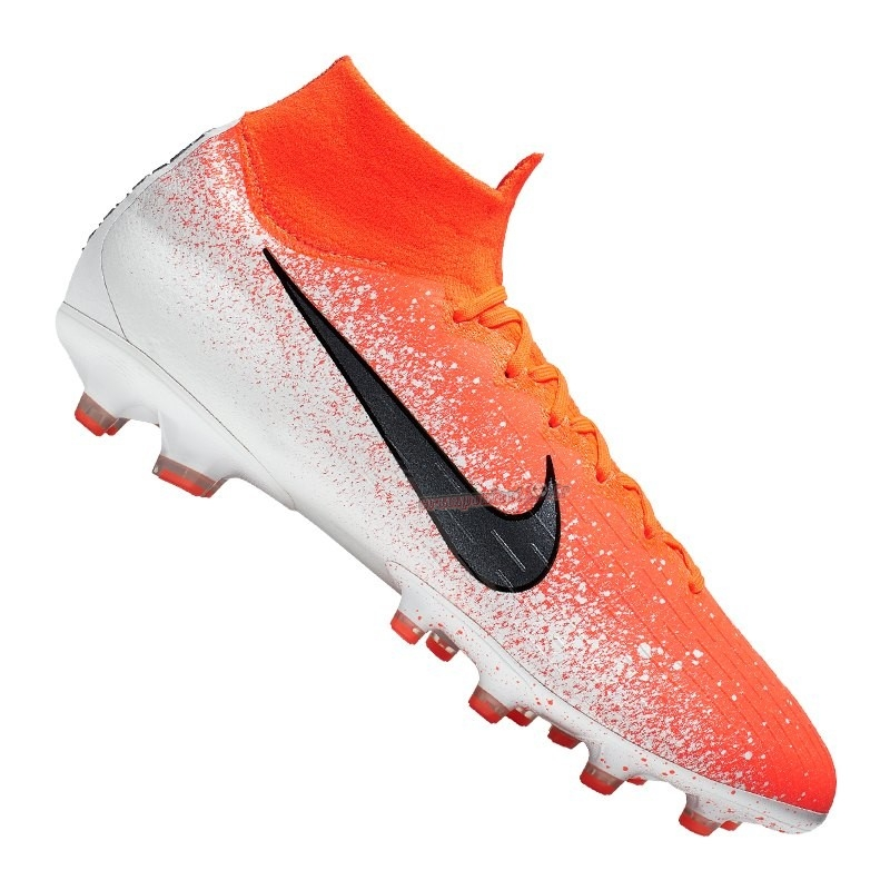 Destockage - Chaussure Nike Mercurial Superfly VI Elite AG Pro Orange En Solde