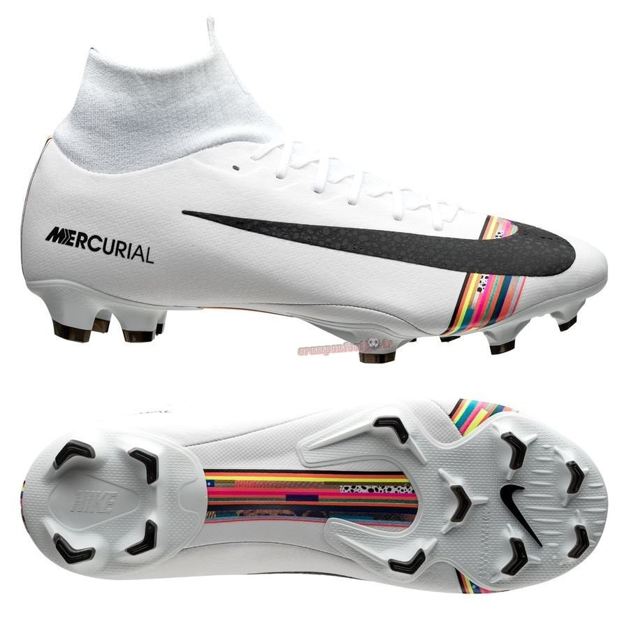 Hot Chaussure Nike Mercurial Superfly 6 Pro FG LVL UP Blanc - Meilleur Chaussures de Foot