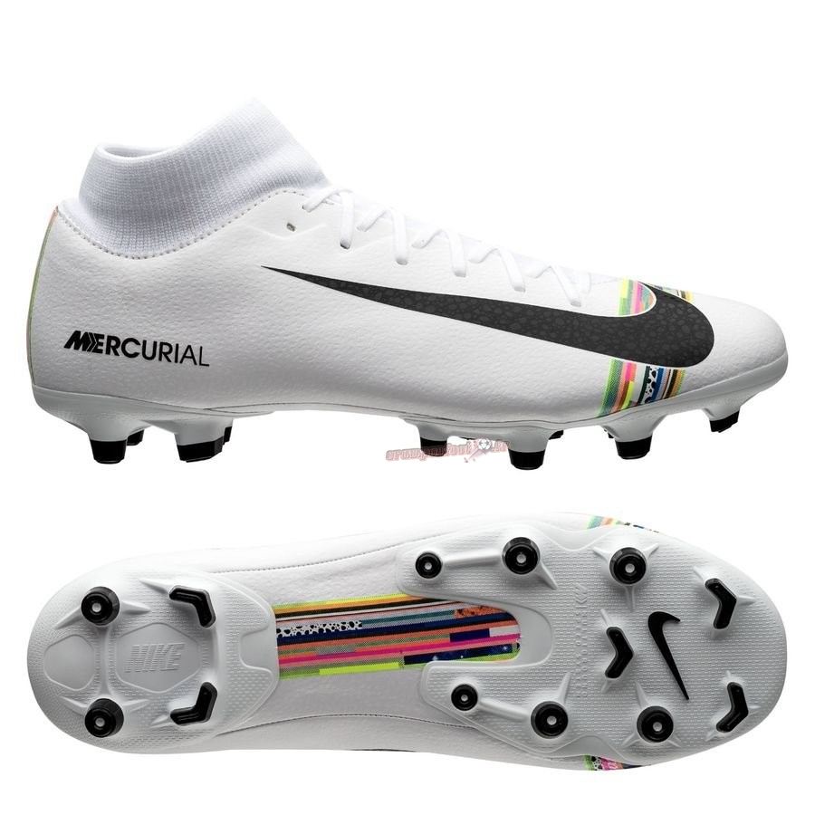 Nouvelle Chaussure Nike Mercurial Superfly 6 Academy MG LVL UP Blanc - Meilleur Chaussures de Foot