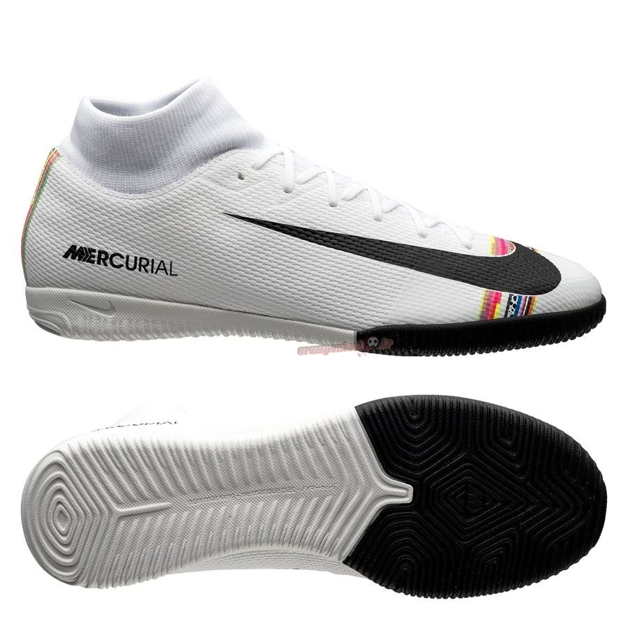Remise Chaussure Nike Mercurial Superfly 6 Academy IC LVL UP Blanc Pas Cher