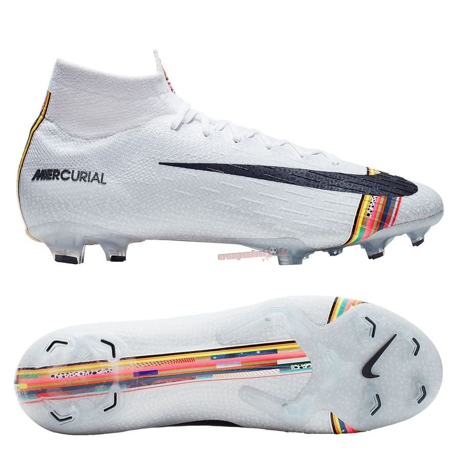 Site Crampons Foot - Chaussure Nike Mercurial Superfly 6 Elite FG LVL UP Blanc En Solde