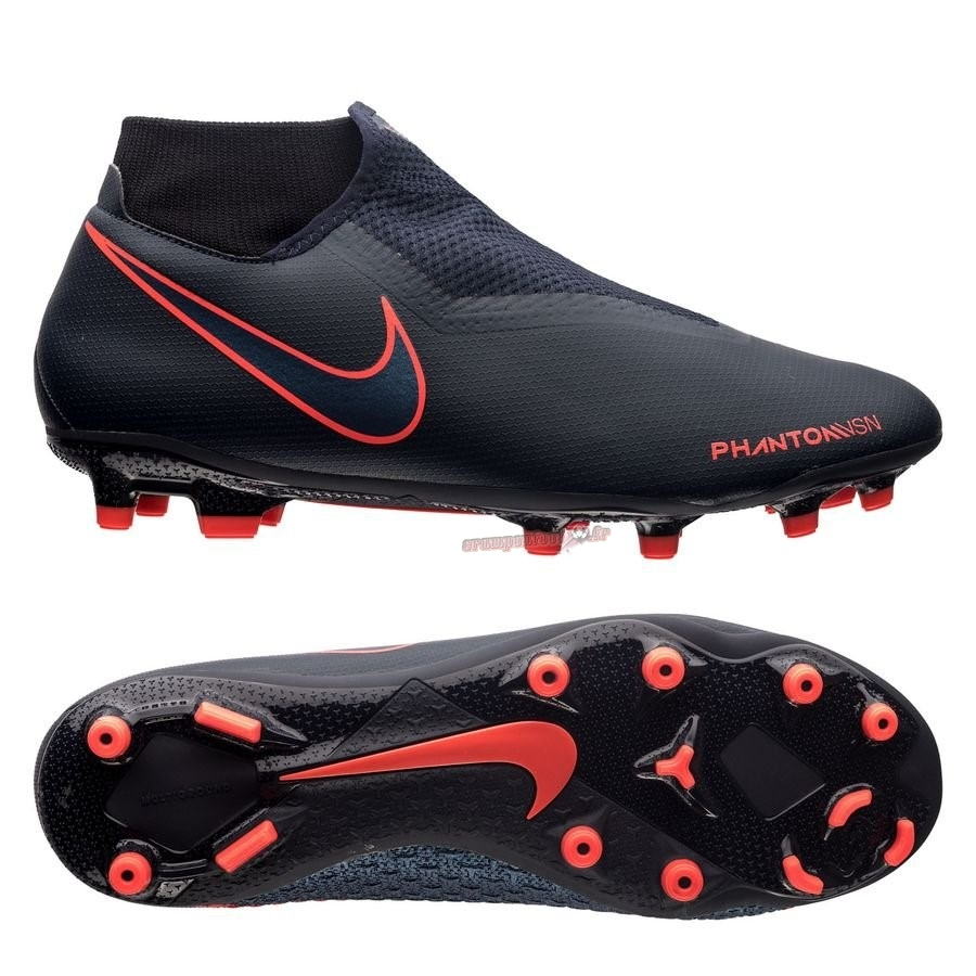 Soldes Chaussure Nike Phantom Vision Academy DF MG Fully Charged Noir - Meilleur Chaussures de Foot