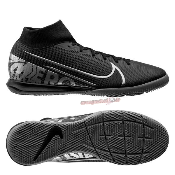 Hot Chaussure Nike Mercurial Superfly 7 Academy IC Noir Gris En Solde
