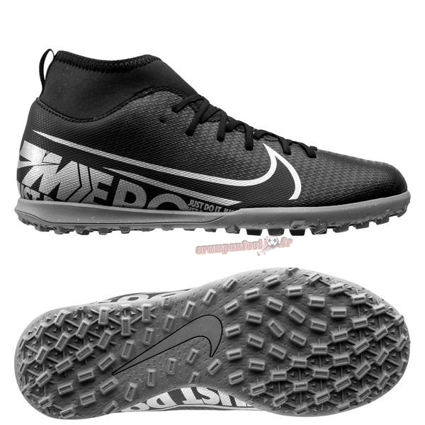 Nouvelle Chaussure Nike Mercurial Superfly 7 Club TF Noir Chaussure de Foot Salle