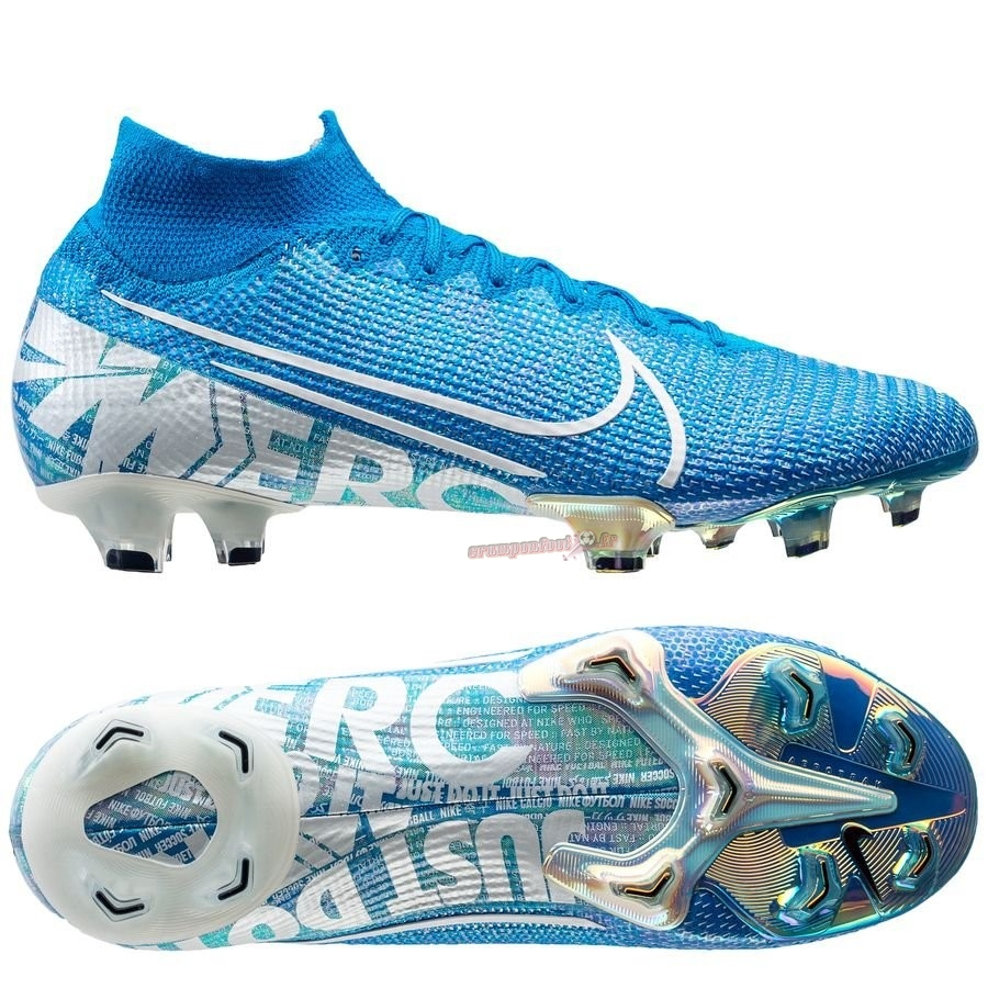 Remise Chaussure Nike Mercurial Superfly 7 Elite FG Bleu Pas Cher