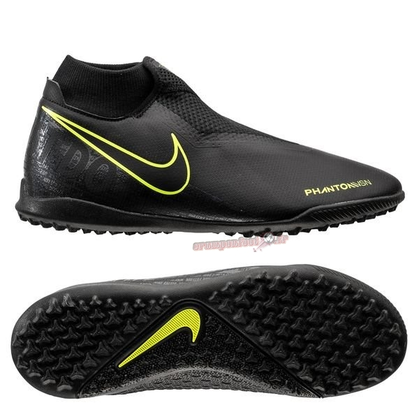 Remise Chaussure Nike Phantom Vision Academy DF TF Noir - Chaussures de Foot