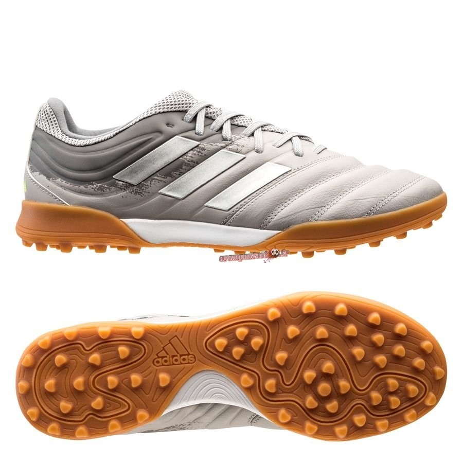 Chaussures de Foot - Chaussure Adidas Copa 20.3 TF Encryption Gris - Meilleur Chaussures de Foot
