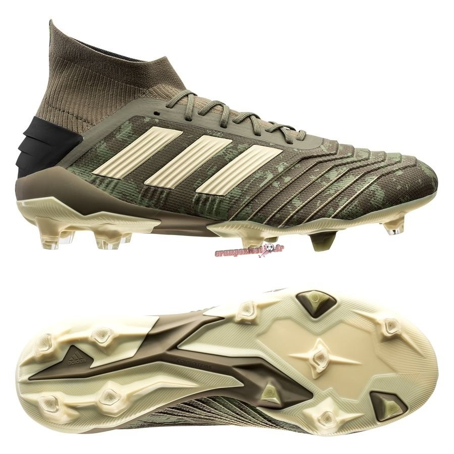 Nouvelle Chaussure Adidas Predator 19.1 FG/AG Encryption Vert Chaussure de Foot Salle