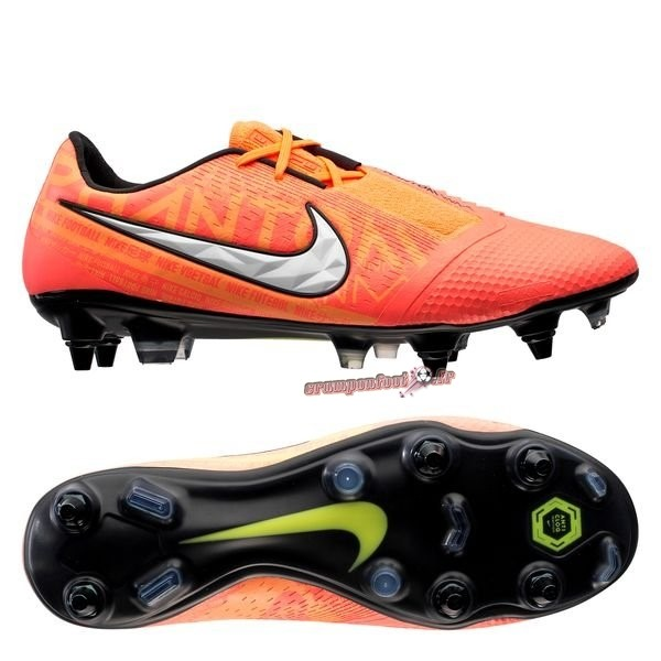Nouvelle Chaussure Nike Phantom Venom Elite SG PRO Anti Clog Fire Orange - Crampon de Foot