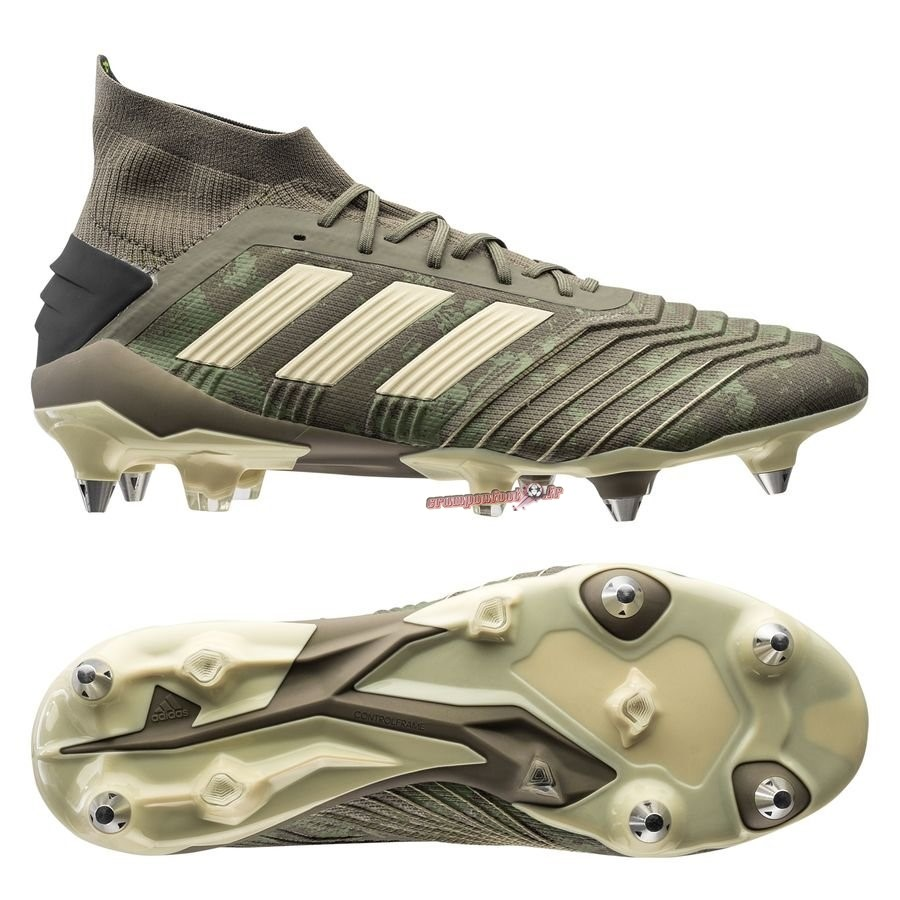Offres Chaussure Adidas Predator 19.1 SG Encryption Vert - Chaussures de Foot