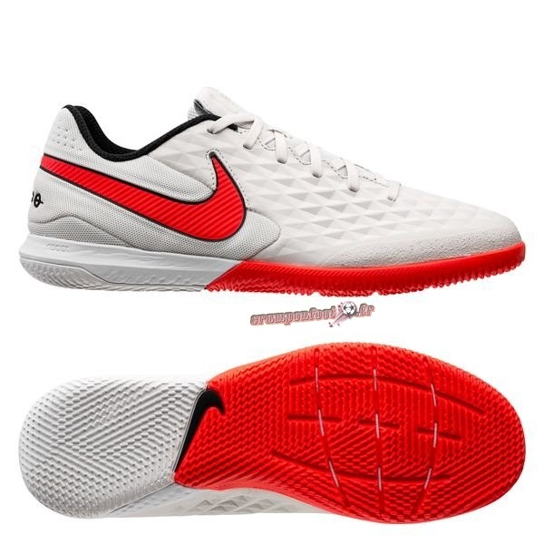 Site Crampons Foot - Chaussure Nike Tiempo Legend 8 Pro IC Blanc Rouge En Solde