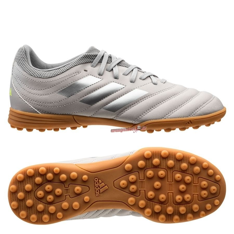 Soldes Chaussure Adidas Copa 20.3 TF Encryption Gris Brun En Solde