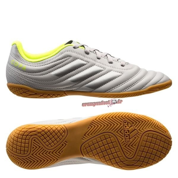 Soldes Chaussure Adidas Copa 20.4 IN Encryption Gris Chaussure de Foot Salle