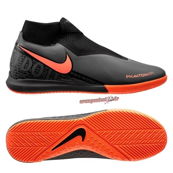 Trouver - Chaussure Nike Phantom Vision Academy DF IC Fire Noir Chaussure de Foot Salle