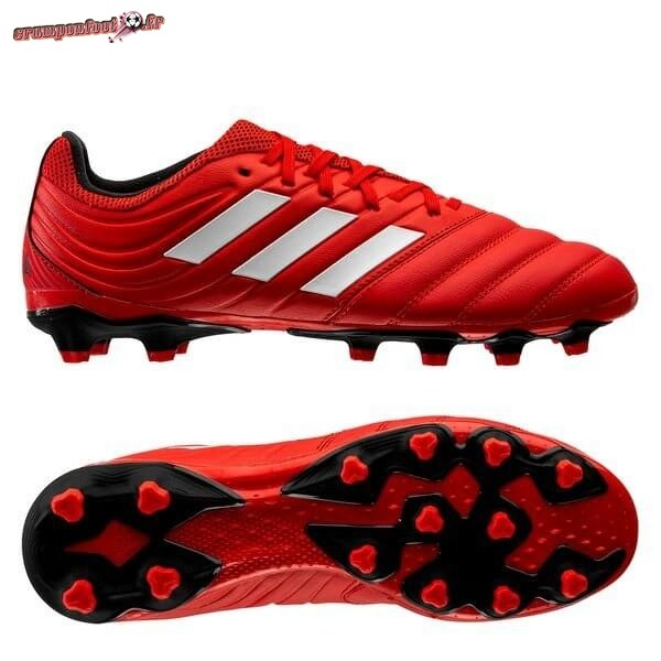 Hot Chaussure Adidas Copa 20.3 MG Rouge Blanc Noir Pas Cher
