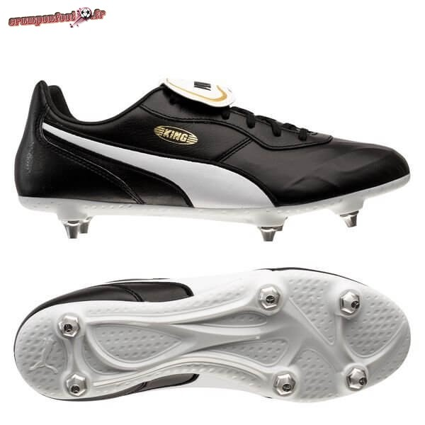 Hot Chaussure Puma King Top SG Noir Blanc En Solde