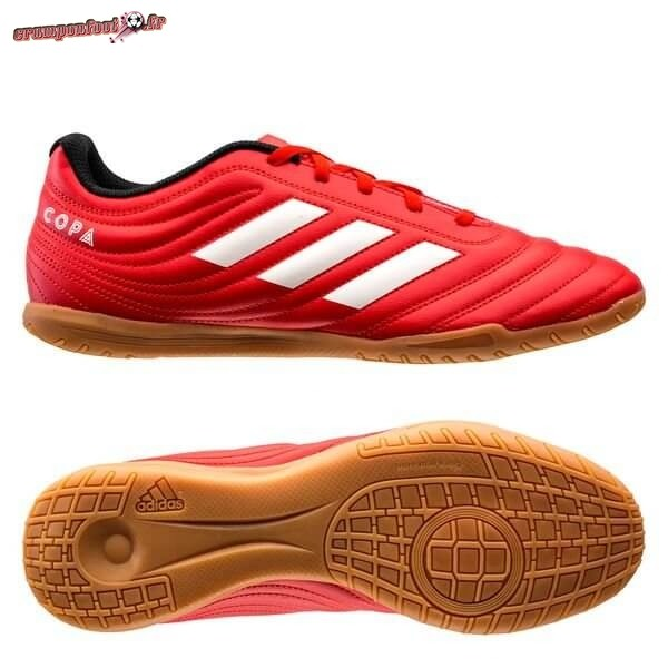 Remise Chaussure Adidas Copa 20.4 IN Rouge Blanc Noir Chaussure de Foot Salle